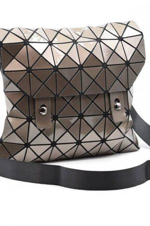 Gunmetal Geometric Handbag