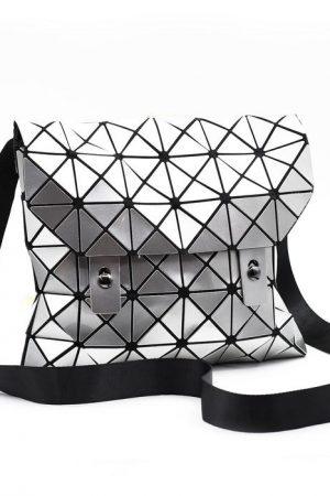Geometric Silver Bag