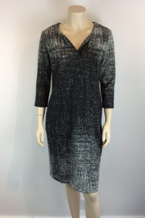 Peruzzi Black Grey Dress